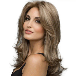 Ladies Long curLy hair online shopping - 2019 Fashion Synthetic Wigs Medium Long Wavy Hair Wigs for Women Lady Curly Hair cm