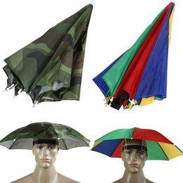 Gear For Camping Australia - Foldable Rain Gear Fishing Hat Headwear Umbrella for Fishing Hiking Beach Cap Head Hats Outdoor Camping Equipment