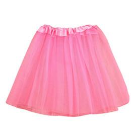 Red White Blue Tutus UK - Girls Clothes Kids Girls Skirt Toddler Baby Kids Girls Solid Tutu Skirt Party Dance Ballet Clothes Baby Costume jupe fille N29