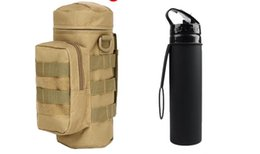 water bottles for boys Canada - 2020 Outdoors Molle Water Bottle Pouch Tactical Gear Kettle Waist Shoulder Bag for Army Fans Climbing Hiking Camping Water Bags DHL