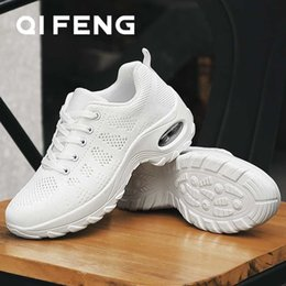 platforms shoes for women Australia - New Style Women Dance Shoes Summer Black Shoe for Women Ballroom Dance Shoes Mesh Sneakers Female White Platforms Footwear