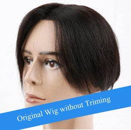 $enCountryForm.capitalKeyWord Australia - Wholesale men Hairpieces Toupees for Sale Glueless Full Lace Silky Straight Natural Hair Wig For Men In Stock