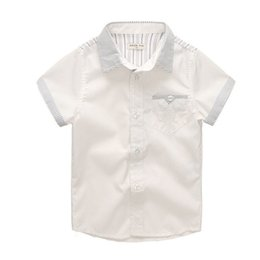Discount school clothes for boys - Summer Casual Baby Shirts White Boy Shirt Short Sleeve School Shirts For Boys Children's clothing Shirt children To