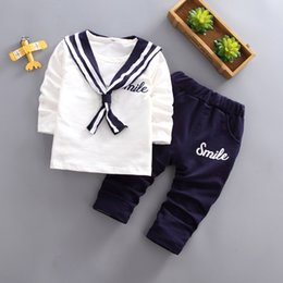 Wholesale BibiCola Bebe Boys Fashion Clothing Sets Kids Boys Spring Autumn Fashion Clothes Suit Children Long Sleeve Costume Baby Outfits