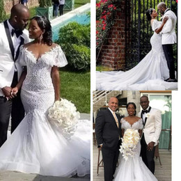 90d23f3cf4 Black net skirt dress online shopping - South Africa Mermaid Wedding  Dresses With Sleeves Chapel Train