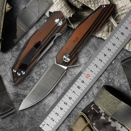 $enCountryForm.capitalKeyWord Australia - TWO SUN TS42 folding Knife Army Hunting D2 blade 60hrc Hardness Survival Knives Essential tool For Self-defense Outdoor G10 EDC