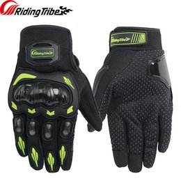 summer motorcycle riding gloves Australia - Riding Tribe Woman's Motorcycle Gloves Summer Moto Riding Protective Gear Non-slip Touch Screen Breathable Man's Guantes
