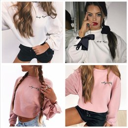 573897dfaf Hot Fashion Womens Summer Autumn White Pink Long Sleeve Crop Tops Casual  Loose Cotton T Shirt Round Neck