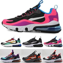 kids table tennis shoes Australia - 270s React Bauhaus OP-ART Black Optical Kids Boys Girls Running Shoes 2019 Newest Fashoin Sneakers Designer Trainers Cushion Shoes