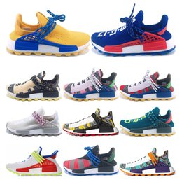 0ffc3cd84 Designer PW Human Race Hu Trail X Men Running Shoes Pharrell Williams Holi  MC Nerd white Homecoming Women Trainers Sports Sneakers