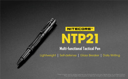 glasses for climbing NZ - NITECORE NTP21 Tactical Pen Multi-functional Defense Pen Aluminum alloy with Tungsten steel head for Glass Breaker writing Self Defense