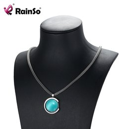 $enCountryForm.capitalKeyWord NZ - wholesale Magnetic Opal Necklaces & Pendants Stainless Steel 2018 Fashion Healing Power Necklaces Classic Link Chain For Women