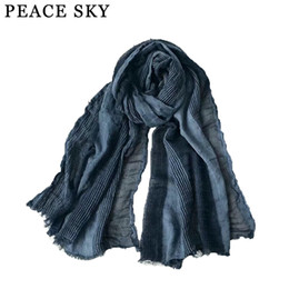 $enCountryForm.capitalKeyWord Australia - 2019 Superbig Japanese Style Winter Scarf Cotton And Linen Striped Plaid Bubble long women's scarves shawl fashion men