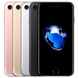 Chinese  Refurbished Original Apple iPhone 7 4.7 inch Fingerprint iOS A10 Quad Core 2GB RAM 32 128 256GB ROM 12MP Unlocked 4G LTE Phone Free DHL 1pcs manufacturers