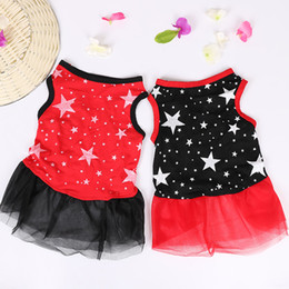 Discount dresses for cats - Summer Dog Dress Cute Pet Dogs Clothes Star Pattern Pets Cat Clothes For Small Medium Dog Dresses Cat Pet Dress Chihuahu