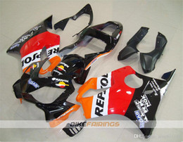 f4i fairings Australia - New Injection Mold ABS Motorcycle fairings kits Fit for HONDA CBR600RR F4i 2004 2005 2006 2007 Free custom Black Red Orange Repsol