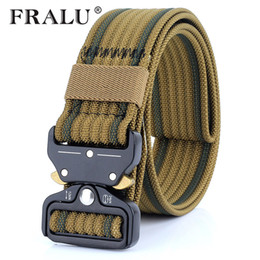 molle gear UK - wholesale New Nylon Belt Men Army Tactical Belt Molle Military SWAT Combat Belts Knock Off Emergency Survival Waist Tactical Gear
