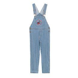 $enCountryForm.capitalKeyWord UK - New Jeans Cotton Women 2019 Harajuku Cartoon Embroidered Denim Jumpsuit Loose High Waist Vintage Striped Denim Overalls Female