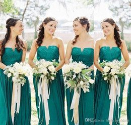 AquA color wedding dresses online shopping - 2019 Summer Spring Bridesmaid Dress Aqua A Line Long Country Garden Formal Wedding Party Guest Maid of Honor Gown Plus Size Custom Made