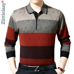 $enCountryForm.capitalKeyWord Australia - 2019 Casual Long Sleeve Business Mens Shirts Male Striped Fashion Brand Polo Shirt Designer Men Tenis Polos Camisa Social 288 C19041501