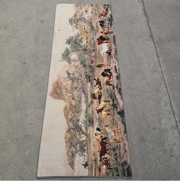 $enCountryForm.capitalKeyWord Australia - China old silk Thangka like hanging painting Embroidery Painting 160x60cm
