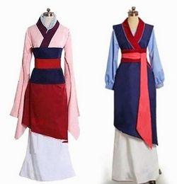 Hua Mulan Vestido Azul Vestido de Princesa Vestido Filme Cosplay Custom Made venda por atacado