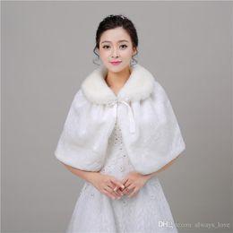 $enCountryForm.capitalKeyWord Canada - 2019 New Arriva Elegant Cheap In Stock Bridal Faux Fur Wedding Wrap Cape Shawl Jackets Coat Bolero Tippet Stole PJ003
