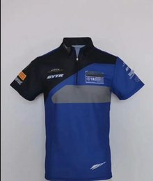 uniform polo NZ - Yamaha Motocross off-road polyester quick-drying short-sleeved POLO shirt racing suits riding speed drop bike team uniforms same custom