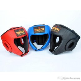 $enCountryForm.capitalKeyWord NZ - Boxing Head Guard PU Free Combat Head Protector Fully Protected Boxing Free Combat Helmet MMA UFC Monkey Face Muay Thai Fight Head Guard
