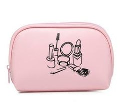 Blue Cosmetics Bag Australia - 2019 New Cosmetic bag cute style white, pink, blue, black convenient storage box simple carry-on travel Zipper