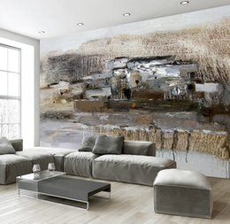 Nature Paintings Wallpaper Australia - Custom 3D Wallpaper Fresh And Elegant Nature Abstract Oil Painting Background Wall Decoration Mural