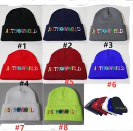 $enCountryForm.capitalKeyWord NZ - ASTROWORLD Knit Cap Embroidery Letters Colorful Astroworld Beanie Unisex Warm Winter Crochet Hats Outdoor Skiing Beanie Skull Caps B62902