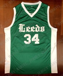 3bdadd65c8d Cheap custom  34 Charles Barkley Jersey Leeds High School Vintage Jerseys  Green Stitched Customize any number name MEN WOMEN YOUTH XS-5XL