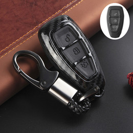$enCountryForm.capitalKeyWord Australia - Car accessories Carbon Fiber Remote Key Fob Case Shell Cover for Fords Fo-cus Fiesta Kuga C-Max