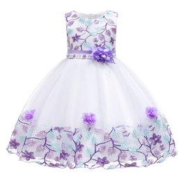 4cbab353574 Baby Flower Girl Dresses Infant Toddler Birthday Party Dresses Blush Pink  Rose Gold Sequins Bow Lace Crew Neck Tea Length Tutu Wedding 2019