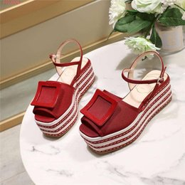 $enCountryForm.capitalKeyWord Australia - The latest women shoes, striped weaving cloth sandals,zz34 platform sandals with Sponge cake,height Increasing Shoes