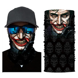 skeleton masks bicycle UK - 3D NEW Scary Skull Masks Skeleton Easter Motorcycle Bicycle Riding Headwear Scarf Half Face Mask Terror Cap Neck Ghost
