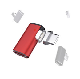 Charging Connector Types Australia - Magnetic USB C to Type C Adapter for Mackook Fast Charging 90 Degree Magnet Connector for Samsung Oneplus 5 6 Xiaomi