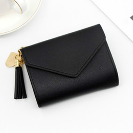 women cards Canada - FREE SHIPPING Women Wallet Short style Small Three fold Hand Wallet Multi function many card Bag Direct Wholesale drop shipping girls purse