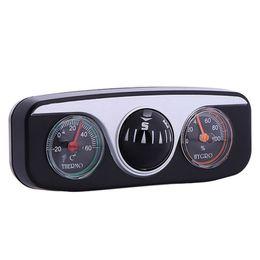 Thermomètre Hygromètre Thermomètre Compas Pour Auto Bateau Véhicules 3 En 1 Guide Ball Accessoires Intérieur De Voiture De Style De Voiture en Solde