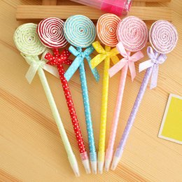 cute lollipop pens 2019 - 12pcs lot Cute Lollipop Ball Pen Souvenirs Birthday Party Baby Shower Gift Happy Birthday Decoration Kids Back to School