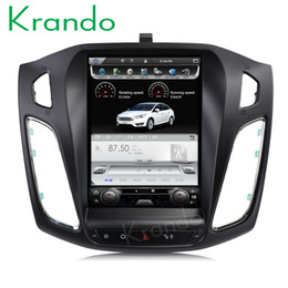 "Touch Screen Car Stereo Gps Bluetooth Australia - Krando Android 7.1 10.4"" Vertical screen car DVD radio player GPS for Ford Focus 2012+ multimedia navigation system stereo with Bluetooth"