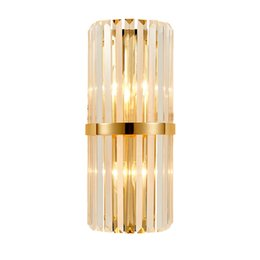 Crystal wall lights design online shopping - Modern LED Crystal Wall Light Creative Design Gold Home Decoration Lighting Fixture Bedroom Hallway Wall Sconce Lamp