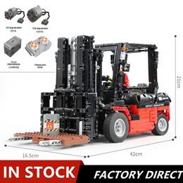 Trucks series online shopping - Technic Series Forklift Truck MOC RC Motors Car Sets Building Blocks Bricks App Control RC Cars Kids Toys Christmas Gift