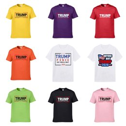 Wholesale trump shirts for sale – custom 2020 Fashion Men S Designer Trump T Shirt Blue Yellow White Black Red Men S Designer Trump T Shirt Trump T Shirt Size S Xxxl