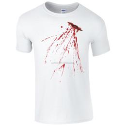 $enCountryForm.capitalKeyWord NZ - Fake Bloody Stab Wound T-Shirt - Halloween Knife Cut Stain Fancy Dress Men Top New Tops Print Letters Men T Shirt