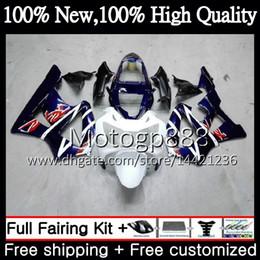 Honda Cbr929 Australia - Body For HONDA CBR900 RR CBR 929RR CBR 900RR CBR929RR 00 01 54PG12 CBR 929 RR CBR900RR CBR929 RR Blue white 2000 2001 Fairing Bodywork