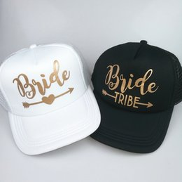 cc6694e4c53 C Fung Bride Tribe Bachelorette Snapback Trucker Hat Cap Team Bride gold  letters Arrow bride to be tribe baseball hats  17173