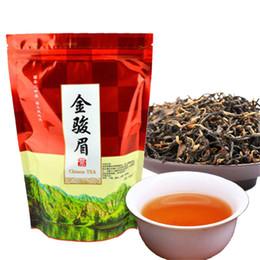 Hot food packaging online shopping - Hot sales g Chinese Organic Black Tea Wuyi Jinjunmei Red Tea Health Care New Cooked Tea Green Food Sealing strip packaging