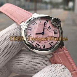 $enCountryForm.capitalKeyWord Australia - Luxury Women Watches Import Mechanical Automatic Watch 33MM 316L Stainless Steel Case Pink Leather Strap Fashion Waterproof Men Watch